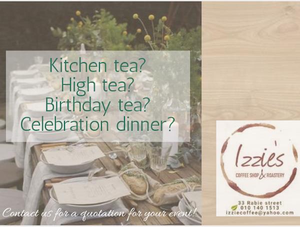 Kitchen tea? High tea? Birthday tea? Celebration dinner?